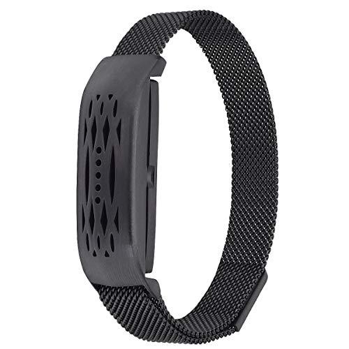 VIGOSS Fitbit Flex 2 Uhrenarmband, Mailand Mesh Zubehör Armband Armreif für Fitbit Flex 2 (Schwarz)