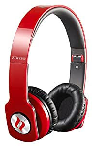 Noontec Zoro HD True Sound Professional Headphones with Inline Mic and Answer/End Button - Red