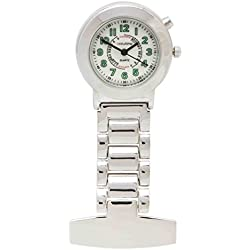 Accutime Nurses Fob Watch men/women -with Backlight