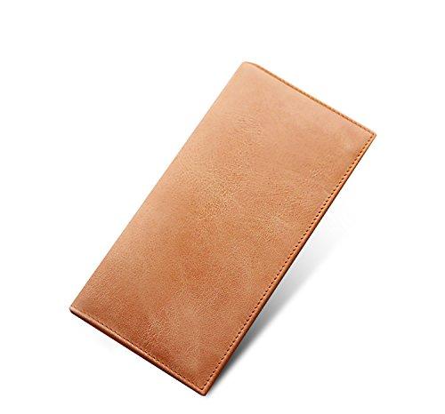 ZXDOP Brieftasche Männer Leder Brieftasche Retro Herren Zipper Lange Dünne Herren Leder Brieftasche ( farbe : 8# ) 3#