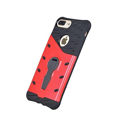 Apexel Schutzhülle 360Grad drehbar Kick Stand Case für 14cm Apple iPhone 7Plus rot
