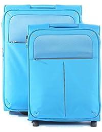Roncato Trolley Juego de maletas, 76 liters, Azul (Azzurro)