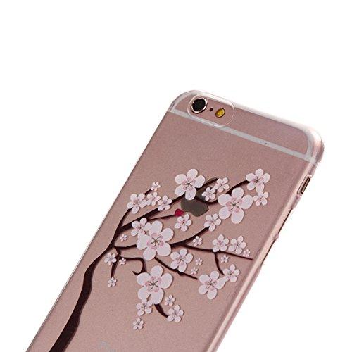 iPhone 6 Plus/6S Plus 5.5 Coque, Voguecase TPU avec Absorption de Choc, Etui Silicone Souple Transparent, Légère / Ajustement Parfait Coque Shell Housse Cover pour Apple iPhone 6 Plus/6S Plus 5.5 (fle fleurs de cerisier-E