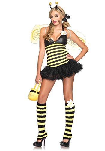 Kostüm Bee Daisy - Leg Avenue 83343 - Daisy Bee Damen kostüm, Größe XS (Gelb Schwarz)