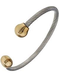 Magnetarmband SABONA OF LONDON® Magnetschmuck, Magnet-Powerarmband Twist mit Goldkugeln, Premium Qualität & Design seit 1960