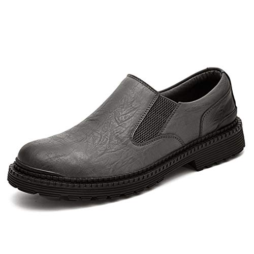 Uomo martin stivali autunno retrò scarpe taglio basso british business traspirante scarpe casual,gray,44eu