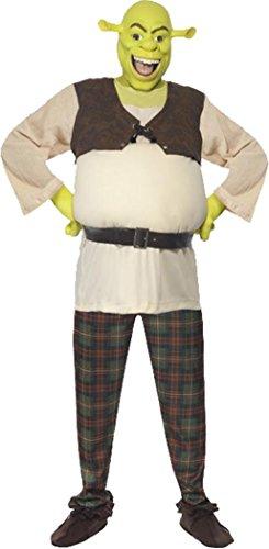 Imagen de para hombre con licencia de la película & tv fancy dress fiesta para hombre traje disfraz de shrek verde