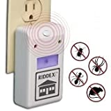 #7: Inditradition Riddex Plus Ultrasonic Pest Repellent Device For Rodents, Ants, Rats, Cockroaches - Electronic, Built-In Night Light, White