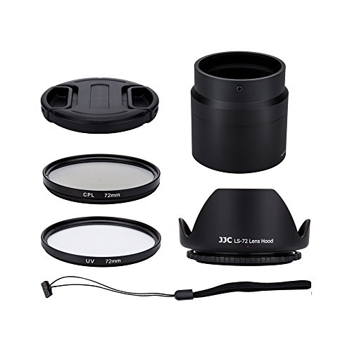 Profoto.Trend 6 Objektiv-Set für Nikon Coolpix B700, P600, P610, P610s Digital Kamera - inklusive Objektiv-Adapter, Gegenlichtblende, UV-& CPL Filter, Objektivdeckel und Objektivdeckelhalter - Profoto-adapter