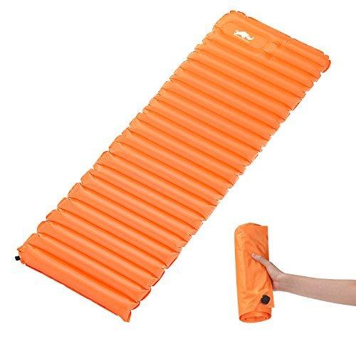 HeySplash Rhino Valley Selbstaufblasendes Schlafen Pad TPU Luftmatratze für Camping Wandern Outdoors Picknicks, 183 x 50 x 9 cm, Orange