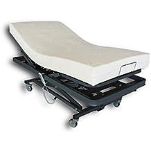Ventadecolchones - Camas Articuladas Geriátrica de Hospital con colchon Visco 10 + 5 medida 105 x 190 cm