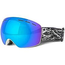 a6a908f280 AnazoZ Gafas de Esqui Gafas Dobles Gafas Antivaho Gafas para Unisex Gafas  Esféricas Gafas de Esqui