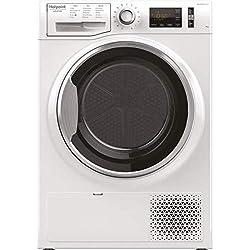Hotpoint NT M11 82XB IT sèche-linge Autonome Charge par-dessus Blanc 8 kg A++ - Sèche-linge (Autonome, Charge par-dessus, Pompe à chaleur, Blanc, Boutons, Rotatif, Droite)