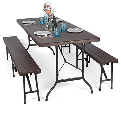 Park Alley Set da Birreria Tavoli e tavolini da Giardino, Marrone