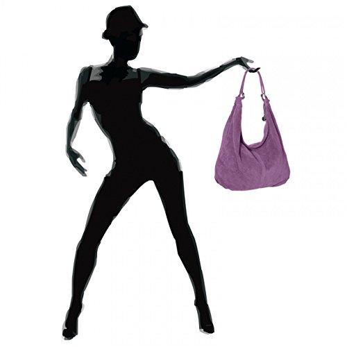 CASPAR Taschen & Accessoires, Borsa a spalla donna Violet