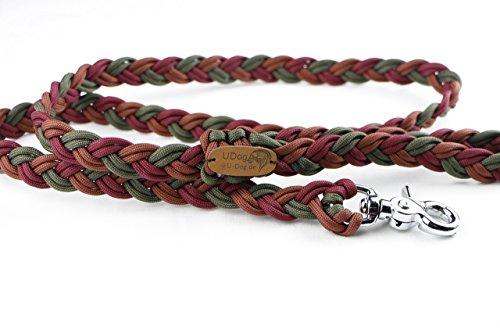 Paracord Leine Hasso 100cm, Paracordleine, Hundeleine, Handgemachte Leine für deinen Hund -FREIE FARBWAHL