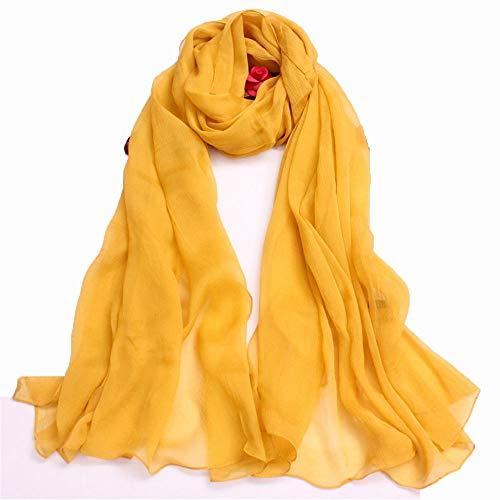 Junjiagao Einfarbig Seidenschal Beste Wahl geeignet für Reisen/Büro/Party/Hochzeit/Dating/als Geschenk und so weiter in der Größe von 105 * 200cm