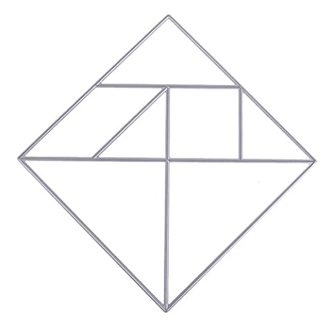 Scrapbooking Découpe Pochoir Stencil Album 1Pcs Tangram Matrices de découpage DIY métal de Photo Embossing Cards Décoration Artisanale (S)