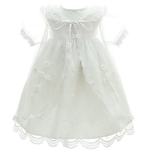 Fancy Luu 3PCS Vestidos de Bautizo Vestidos de Bautismo de Cristo Para Niñas Bañador de Bautizo a Mano Con Traje Bautismal