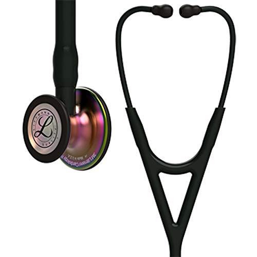 3M Littmann 6165 Cardiology IV Stethoskop, Bruststück regenbogenfarben, schwarzer Schlauch, Schlauchanschluss und Ohrbügel, 69cm -