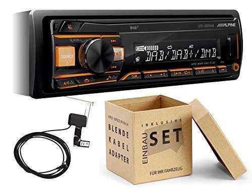 Alpine UTE-202DAB 1-DIN Autoradio inkl DAB+ Antenne USB AUX Spotify für BMW 3er E46 bis 2005 schwarz 2005 Factory Radio