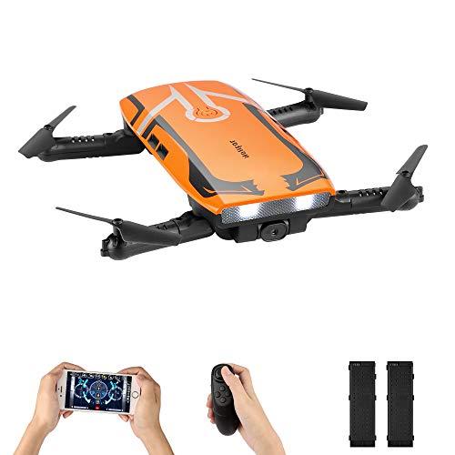 Drone con Telecamera,due Batterie H818 Pieghevole Drone con WIFI FPV HD 720P APP Mobile Controllo, Altitude Hold / modalità Headless