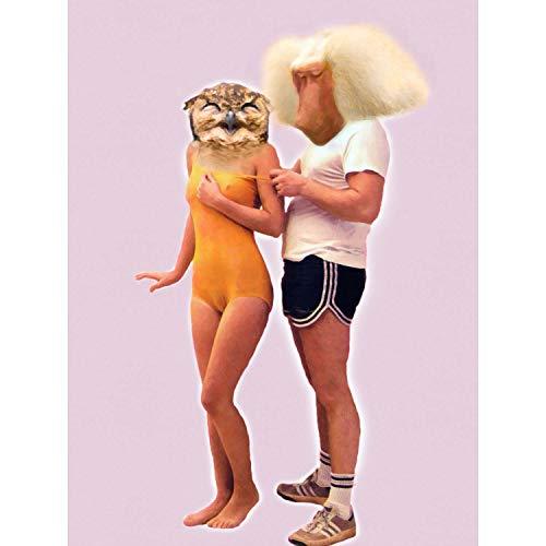 BABOON OWL COUPLE CREEPY SWIMSUIT PRINT ONLY ART POSTER HP3662 - Owl Giclée Print