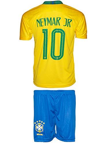 Brasilien Neymar #10 2018 Heim Trikot und Shorts Kinder und Jugend Größe