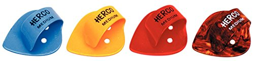 HERCO HE112 FLAT THUMB PICK MEDIUM 24/PK (JAPAN IMPORT)