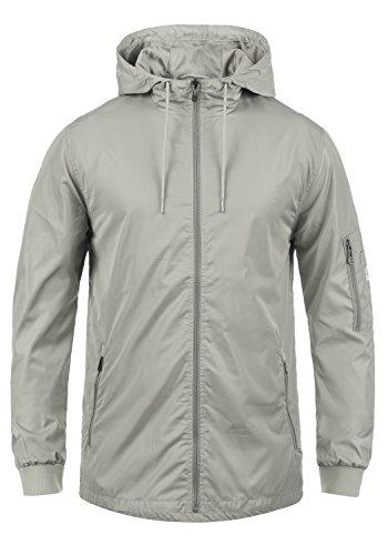 Blend Cray Herren Übergangsjacke Parka Lange Jacke Mit Kapuze, Größe:L, Farbe:Stone Grey (75117) (Blend Mantel)