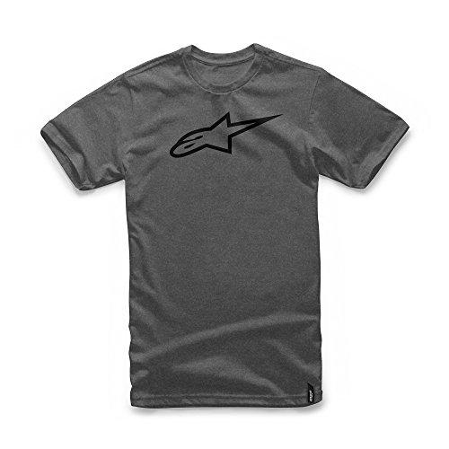 Alpinestars Herren T-Shirt Ageless II Men's Logo T-Shirt Modern Fit Short Sleeve charcoal heather/Black