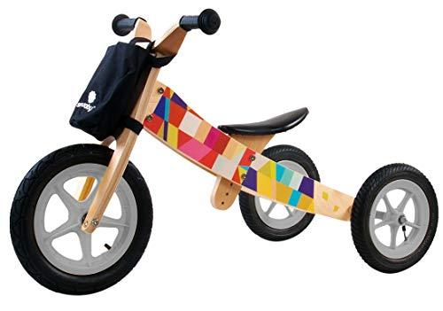 2in1-Dreirad-Laufrad-Holz-Kinderfahrrad-einstellbare-Sattel-2-5J-Fahrrad-Zweirad (Mosaic)