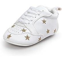 Itaar Babyschuhe Turnschuhe Wanderschuhe mit gestickter Sterne Herzchen und weicher rutschfester Sohle für Babys und Kinder 0-18 Monate