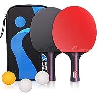 Raquetas de Tenis de Mesa Ping Pong Palo de Tenis de Mesa Raqueta Set Juego para Actividad de Oficina Familiar 2 Raquetas y 3 Pelotas