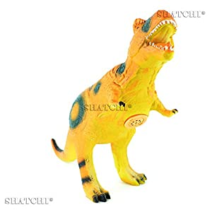 Gifts 4 All Occasions Limited SHATCHI-711 7002 - Figura de dinosaurio de goma para niños, modelo de juego táctil con sonido, multicolor