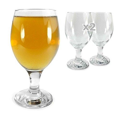 Tuff-Luv 2 x Ursprüngliche Pint Bier-Glas / Gläser / Barbedarf CE Craft Beer Ale Glass 400ml