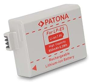 Batterie pour Canon LP-E5 (EOS-450D, EOS-500D, EOS-1000D)