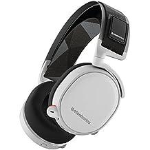 SteelSeries Arctis 7 - Auriculares para juego, inalámbrico, DTS 7.1 Surround para PC, (PC / Mac / Playstation / Móvil / VR) - color blanco