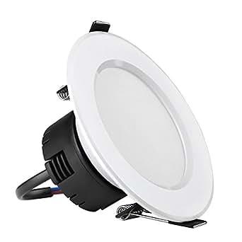 LE Ø90mm Plafonnier Encastré LED 8W, Equivalente à une Ampoule Halogène de 75W, Lumière Blanc du Jour, cuisine, salon, chambre, salle à manger, couloir, escalier