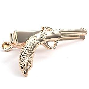 KONOV Herren Krawattenklammer, Krawattennadel, Pistole, Legierung, Gold