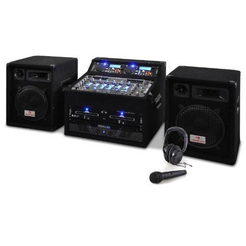 Set DJ PA Rack Star Jupiter Shock 800W coffre rack chaîne