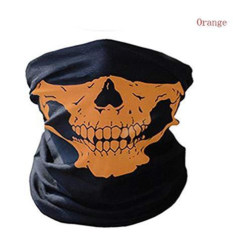 JYYC 1 Satz Halloween Maske Festival Schädel Masken Skeleton Outdoor Motorrad Fahrrad Multi Funktion Halswärmer Ghost Halbe Gesichtsmaske Schals