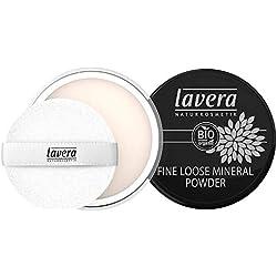 lavera Poudre Libre Minérale - Fine Loose Mineral Powder - Poudre minérale fine - vegan - Cosmétiques naturels - Make up - Ingrédients végétaux bio - 100% Naturel Maquillage (8 g)