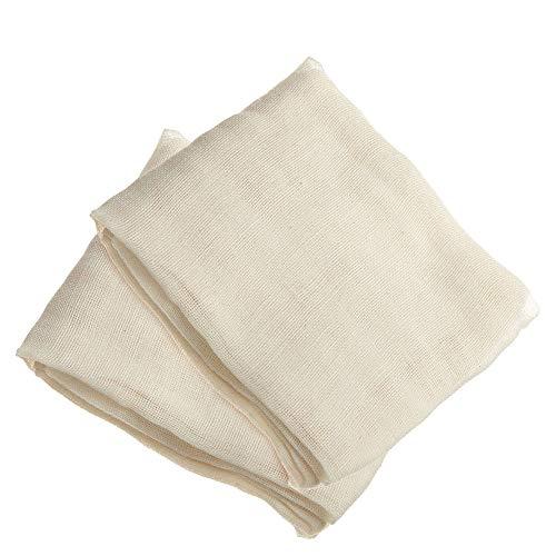 FOGAWA 2 PCS Käsetuch Passiertuch Bio Nussmilchbeutel Baumwolle Filtertuch 95 x 95 cm Seihtuch Siebtuch zur Käseherstellung Filter Cloth für Käse Obst Lebensmittel