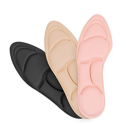 3 Paar Arch Support 4D Memory Foam Orthesen Einlegesohle Orthetische Massage Schmerzlinderungseinsatz Stoßdämpfer Komfort Fußkissen Pads