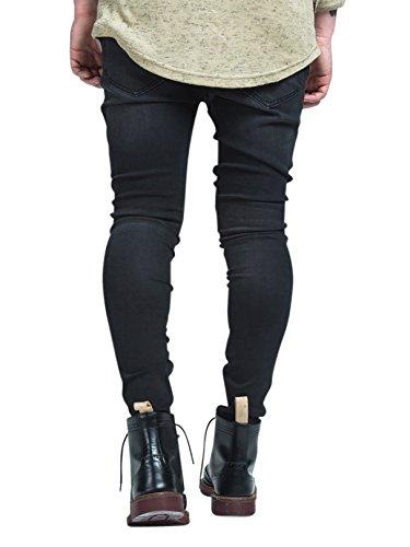 Sik Silk Herren Raw Edge Crop Schrittgurt Zerrissene Jeans, Grau Grau