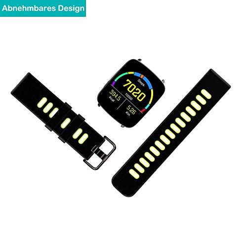 YAMAY Smartwatch Wasserdicht IP68 Smart Watch Uhr mit Pulsmesser Fitness Tracker Sport Uhr Fitness Uhr mit Schrittzähler,Schlaf-Monitor,Stoppuhr,Call SMS Benachrichtigung Push für Android und iOS - 9