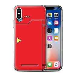 Stuff4® Hülle/Case für Apple iPhone X/10 / Rot Muster/Anime Cartoon Kodex Kollektion