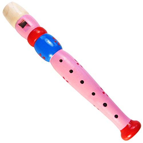 KEEPDRUM KFL1PK Flöte aus Holz Pink Flieder Lila für Kinder Kinder-Flöte
