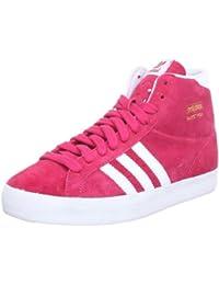 adidas Originals BASKET PROFI W - Zapatillas de caña alta de cuero mujer, rosa - Pink (BLAZE PINK S13 / RUNNING WHITE FTW / METALLIC GOLD), 38